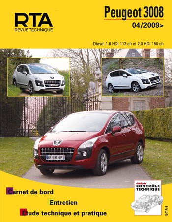 Revue Technique Peugeot 3008 I phase 1