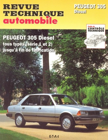 Revue Technique Peugeot 305 phase 2 diesel