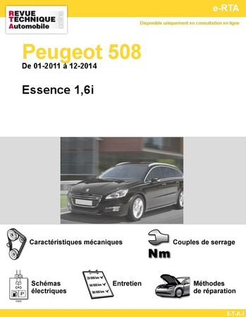 Revue Technique Peugeot 508 I essence
