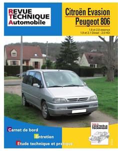 Revue Technique Peugeot 806 et Citroën Evasion