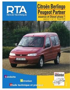 Revue Technique Peugeot Partner I ph. 1 et Citroën Berlingo I ph. 1