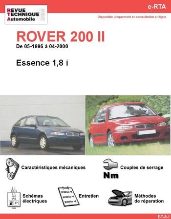Revue Technique ROVER 200 II Essence