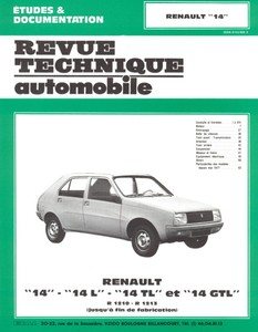 Revue Technique Renault 14 L, TL et GTL