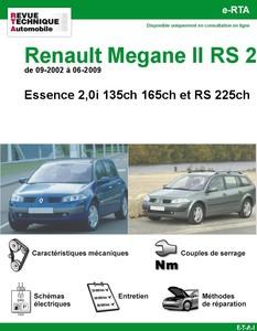 Revue Technique Renault Mégane II Essence 2,0i et RS225