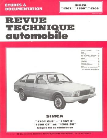 Revue Technique Simca 1307, 1308 et 1309