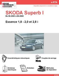 Revue Technique Skoda Superb I essence