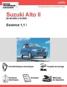 Revue Technique Suzuki Alto