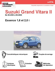 Revue Technique Suzuki Grand Vitara II essence