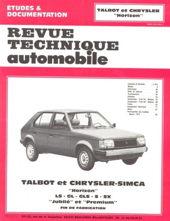 Revue Technique Talbot Horizon
