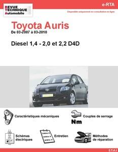 Revue Technique Toyota Auris I diesel