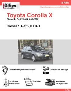 Revue Technique Toyota Corolla IX diesel