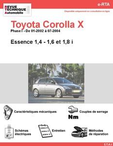 Revue Technique Toyota Corolla IX essence