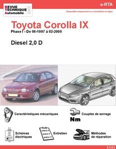 Revue Technique Toyota Corolla VIII diesel