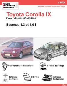 Revue Technique Toyota Corolla VIII essence