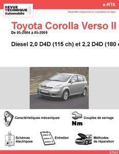 Revue Technique Toyota Corolla Verso II diesel