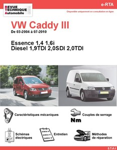 Revue Technique Volkswagen Caddy III