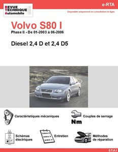 Revue Technique Volvo S80 I Phase 2 diesel