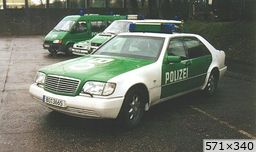 divers police Allemagne Mercedes Classe S