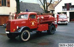 divers pompier Opel Blitz TLF15 CPI Herrlisheim-près-Colmar (1944)