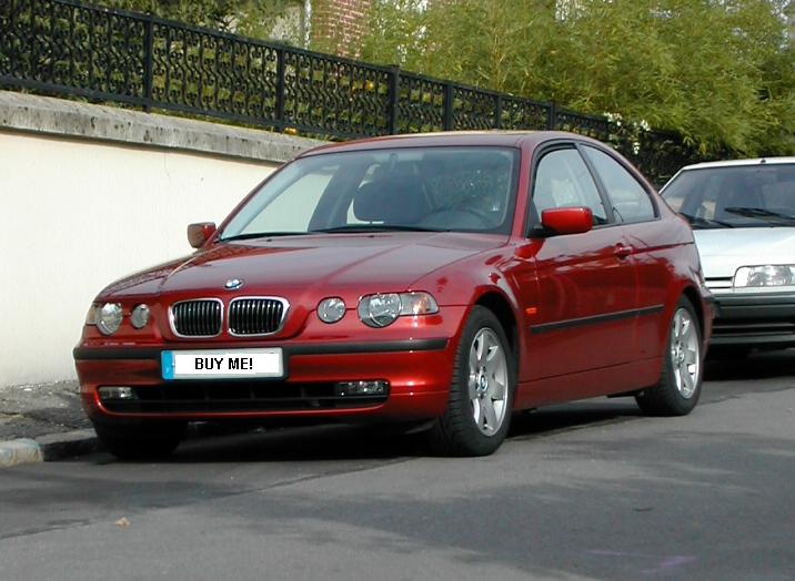 occasion bmw s rie 3 316 ti compact pack ann e 2002 77900 km 4399 auto titre. Black Bedroom Furniture Sets. Home Design Ideas